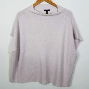 Eileen Fisher Cashmere & Silk Blend Knit Poncho